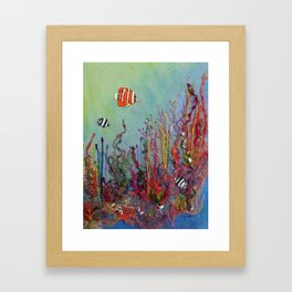 Ocean Reef Framed Art Print