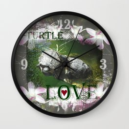 Turtle Love Wall Clock