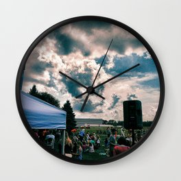 """Cloud Cover"" Wall Clock"
