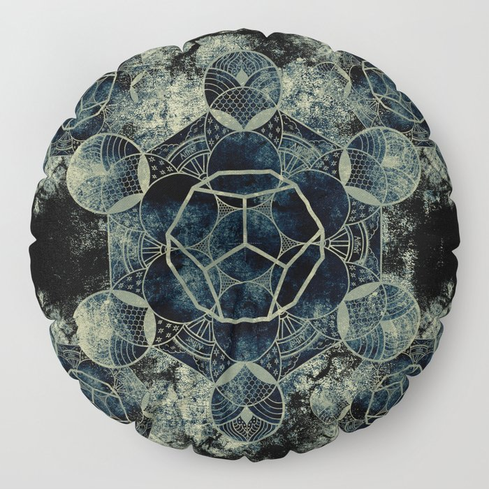 Sacred Geometry for your daily life -  Platonic Solids - ETHER Floor Pillow