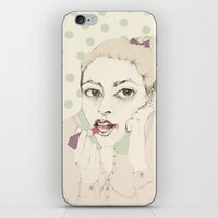lipstick iPhone & iPod Skins featuring lipstick by Cecilia Sánchez