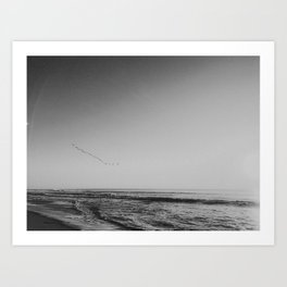 HALF MOON BAY II (B+W) Art Print