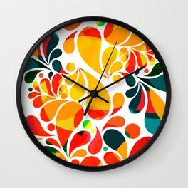 Abstract Drops Wall Clock