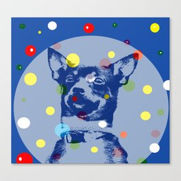 Dog in the Bubble Canvas Print