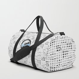 NUGaming Icon Checker Print Duffle Bag