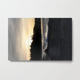 Siletz Bay Sunset, Oregon Metal Print