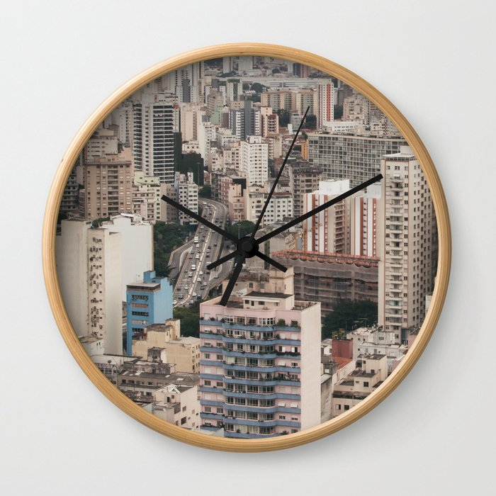 city caos São Paulo Wall Clock
