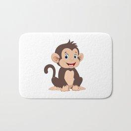 happy little monkey Bath Mat