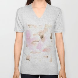 180515 Watercolour Abstract Wp 7 | Watercolor Brush Strokes Unisex V-Neck