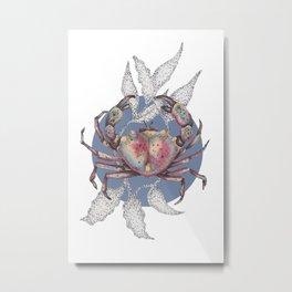 inktober crab Metal Print