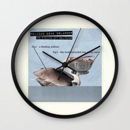 Pelican Beak Colander Wall Clock