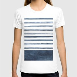 Watercolor Stripes Pattern T-shirt