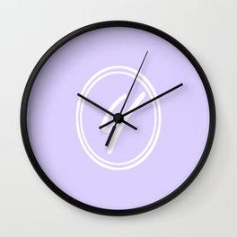 Monogram - Letter Y on Pale Violet Background Wall Clock