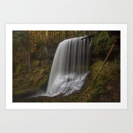 Middle North Falls in Fall Art Print
