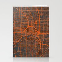 atlanta Stationery Cards featuring Atlanta map by Map Map Maps