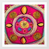 Happy Mandala Art Print