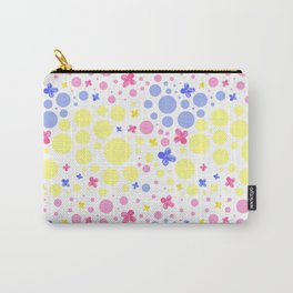pink blue and yellow spots and flowers Carry-All Pouch