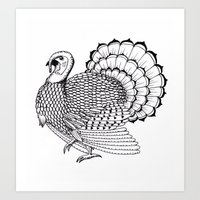turkey Art Prints featuring Turkey by Martin Stolpe Margenberg
