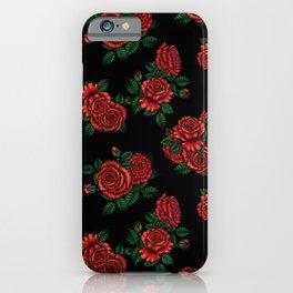 Red Rose Midnight Garden iPhone Case