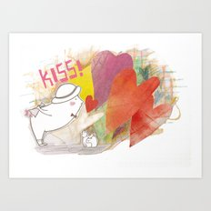 Who you gonna to KISS ? Art Print