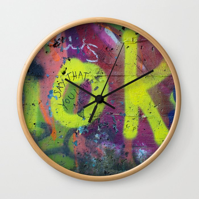 Say that you love me. Wall Clock