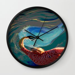 Jubilant Hiker Wall Clock