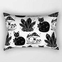 magic cat pattern, witch cat pattern, halloween cat pattern Rectangular Pillow