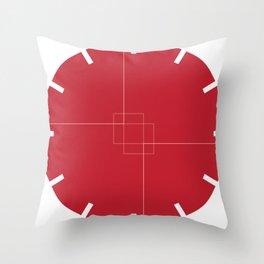 Red Clock Design Throw Pillow