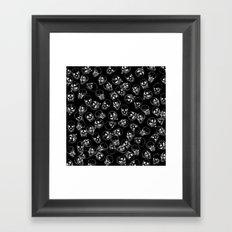 A Lot of Skulls Black Framed Art Print
