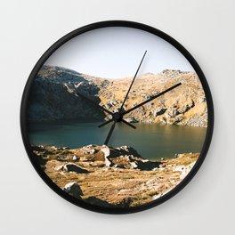 Blue Lake II Wall Clock