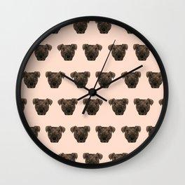 Pitbull dog breed pet portrait pattern gifts pillow with pitbull cute puppy Wall Clock
