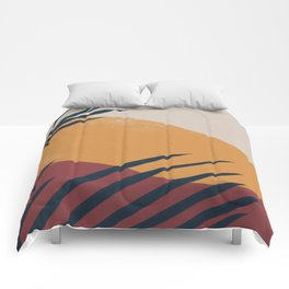 Palm Abstract Comforters