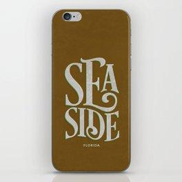 Seaside Typography (Brown) iPhone Skin