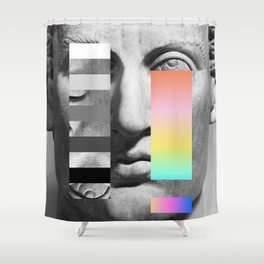 Sculpture of a Man With Shifting Patterns 1 Shower Curtain