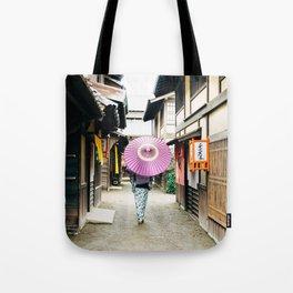 Geisha in Japan. Kyoto Tote Bag