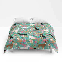 Chihuahua dog breed floral pet gifts perfect present for chihuahuas pure breed Comforters