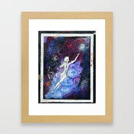 Galaxy Swimmer  Framed Art Print