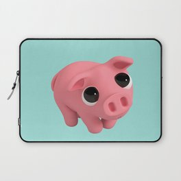 Rosa the Pig is shy Laptop Sleeve
