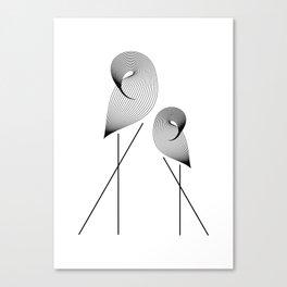 Coy Cranes Canvas Print