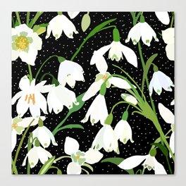 Snowdrop Floral Canvas Print