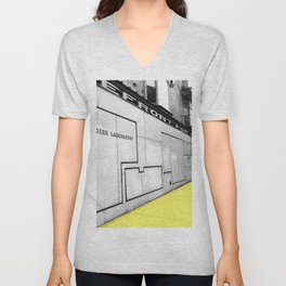 Storefront for Art and Happiness Unisex V-Neck