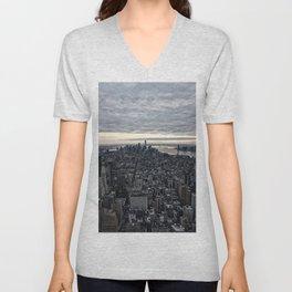 New York skyline x Unisex V-Neck