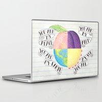 peach Laptop & iPad Skins featuring Peach by Larissa