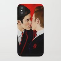 klaine iPhone & iPod Cases featuring First Kiss by Monika Gross