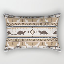 Boho Animals | Ferret tan Rectangular Pillow