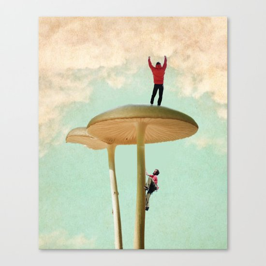 Land of the Giant Mushroom Canvas Print