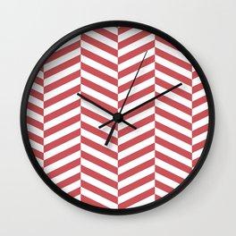 Classic red chevron Wall Clock