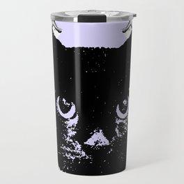 Purple Scrunch Quad Cat Travel Mug