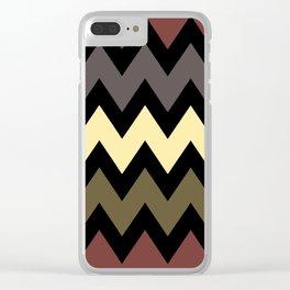 Black and colour Chevron Print Clear iPhone Case