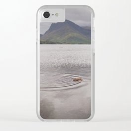 Water Droplet Ripples Clear iPhone Case
